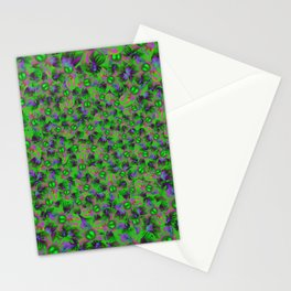 Abstract sewn flowers Stationery Cards