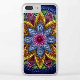 Flor en el lago Clear iPhone Case