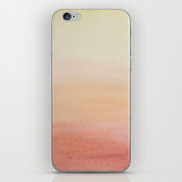 Ombre Rose Dawn Watercolor Hand-Painted Effect iPhone Skin
