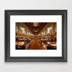 New York Public Library Framed Art Print
