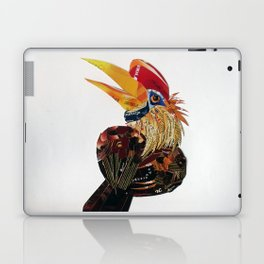 Red knobbed hornbird Laptop & iPad Skin