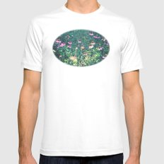 Flowers of the Field Mens Fitted Tee MEDIUM White