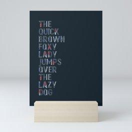 The quick brown foxy Lady - Tools Mini Art Print