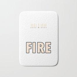Candlemaker Candlemaking Chandler Wax Light My Hustle Is On Fire Gift Bath Mat