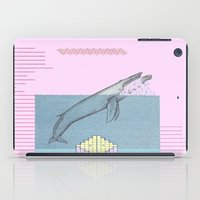 the whale iPad Cases featuring WHALE by MAR AMADOR