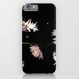Dark Daisies | Black Botanical, Dark Academia Wall Art, Real Daisy Flowers, Wildflowers Photo iPhone Case