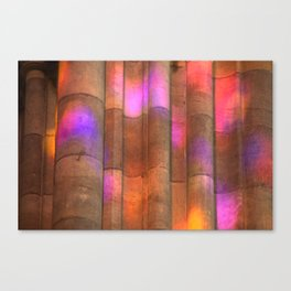 stained-glass reflection Canvas Print