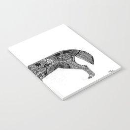 Henna-Inspired Wolf Notebook