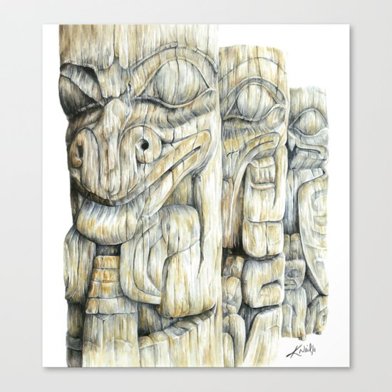 Haida Totems Canvas Print