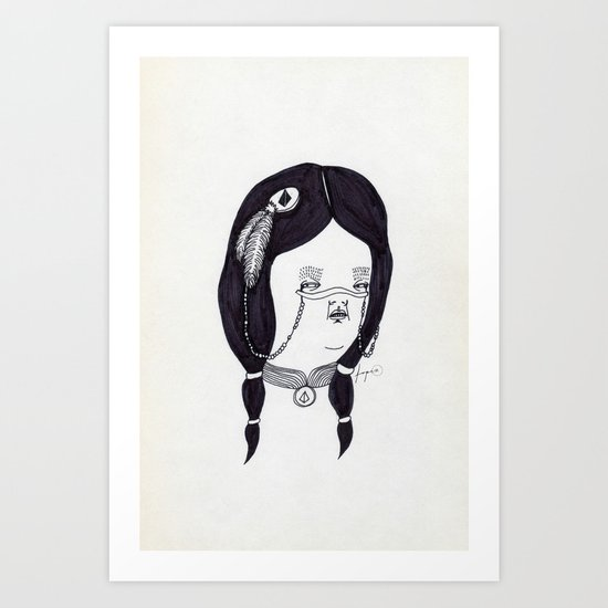 Apache Wife Art Print