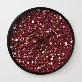 Ruby Red Mermaid Tail Wall Clock