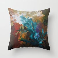 Throw Pillows featuring Into The Light by Danielle Harshenin