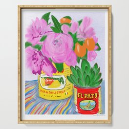 Flores, El Pato, Still Life Serving Tray