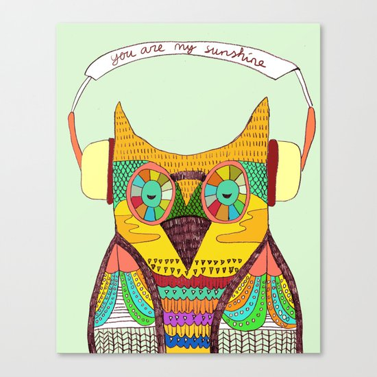 The Owl rustic song Canvas Print
