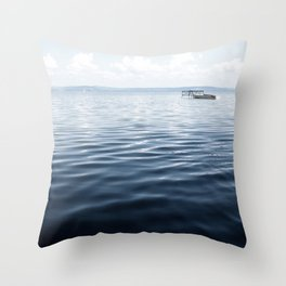calm blue water Throw Pillow