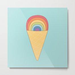 Rainbow ice cream Metal Print
