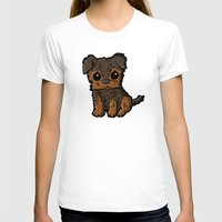 caleb troy T-shirts featuring Troy - Silky Terrier by Sylvester Pyke
