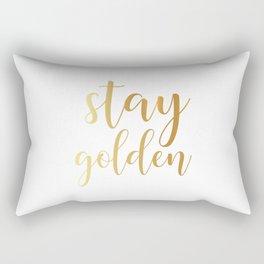 Stay Golden Rectangular Pillow