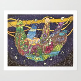 Sloth As The Universe Art Print