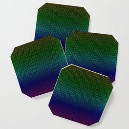 Metallic Rainbow Graphite Honeycomb Carbon Fiber Coaster