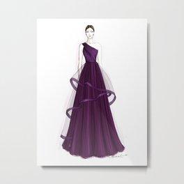 Purple queen Metal Print