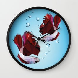 The Fighters - Daniela Mela Wall Clock