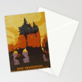 New Brunswick Travel Poster Stationery Cards