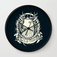 the thing Wall Clocks featuring Wild Thing by Mike Koubou