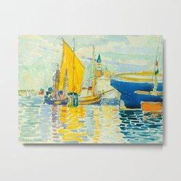 Henri-Edmond Cross Neo-Impressionism Pointillism Venice-The Giudecca Watercolor Painting Metal Print