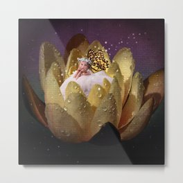 Waterlily Fairy Metal Print