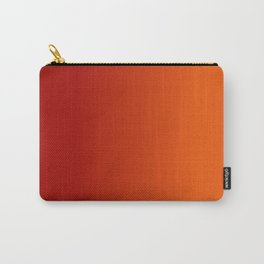 Ombre in Red Orange Carry-All Pouch