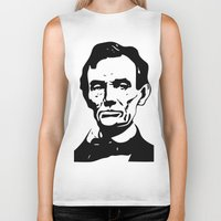 lincoln Biker Tanks featuring LINCOLN $ by b & c