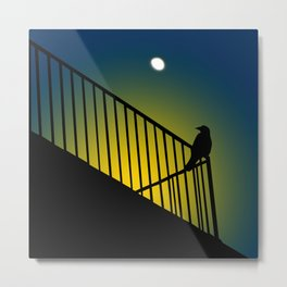The crow called my name Metal Print