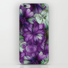 Violets and Greens iPhone Skin