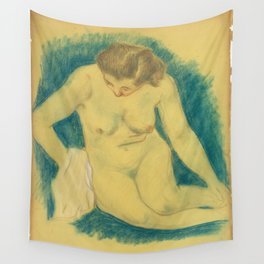 Paul Gauguin - Seated nude seen from above Wall Tapestry