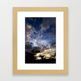Breathtaking Costa Rican Sunset Framed Art Print
