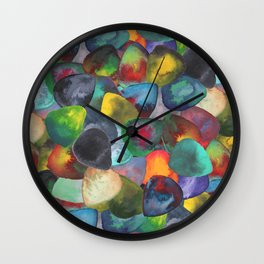 Guitar Picks Compilation Wall Clock