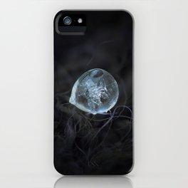 Drop of ice rain iPhone Case