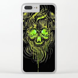 Glossy Yella Skeletons Clear iPhone Case