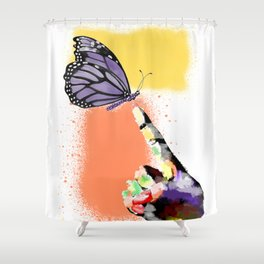 Come here sweet butterfly Shower Curtain
