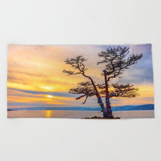 Baikal pine Beach Towel