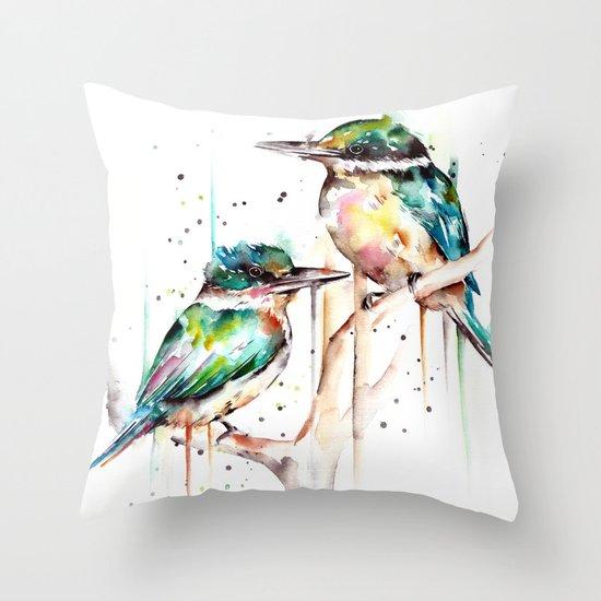 Kingfishers by fionaclarkeart