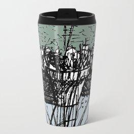Pond Plants in Colour Metal Travel Mug