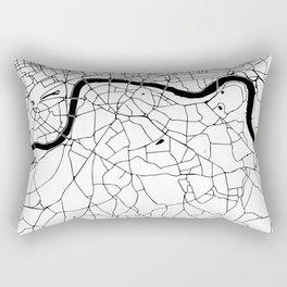 London Minimal Map Rectangular Pillow