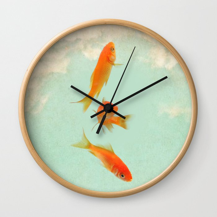 Goldfish in the sky Wall Clock