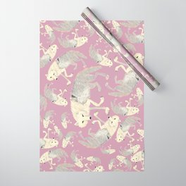 Totem Artic Wolf lilac Wrapping Paper