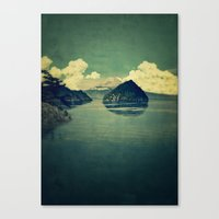 blues Canvas Prints featuring Distant Blues by Kijiermono