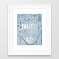 the fault in our stars Framed Art Prints featuring Fault in Our Stars by Natasha Ramon