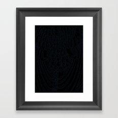 feather - white Framed Art Print
