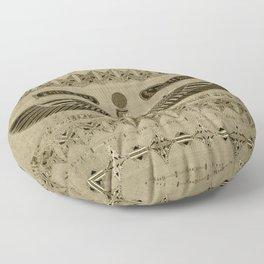 Egyptian Goddess Isis Ornament Floor Pillow
